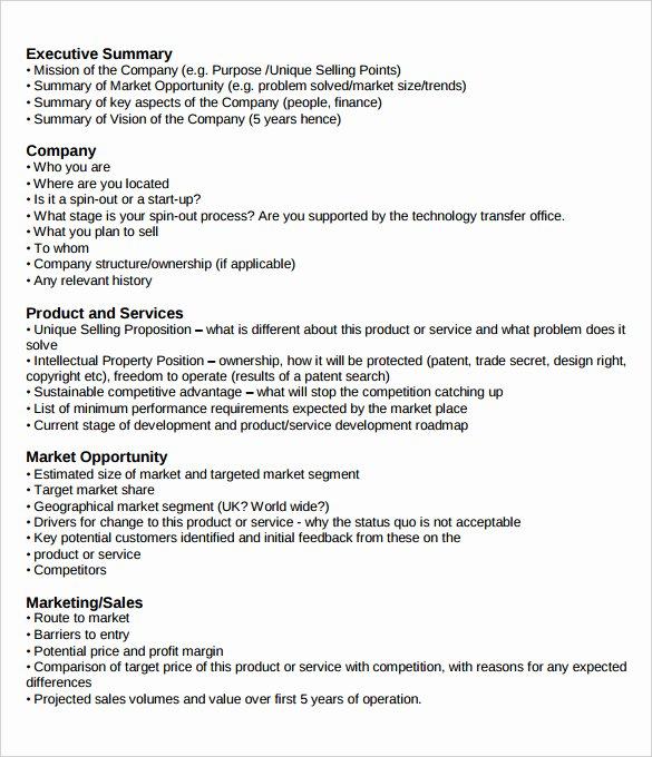 Executive Summary Outline Template Fresh Management Executive Summary Examples