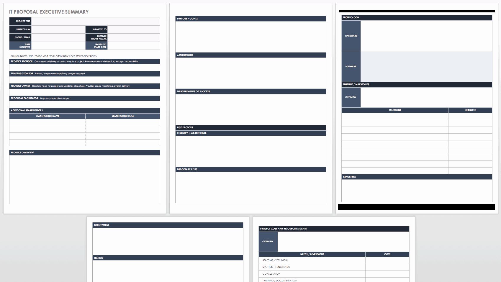 Executive Summary Outline Template Inspirational Free Executive Summary Templates