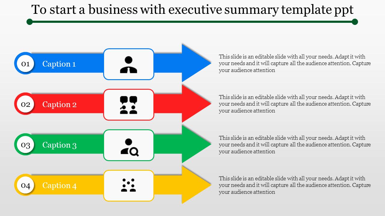 Executive Summary Ppt Template Elegant Slideegg