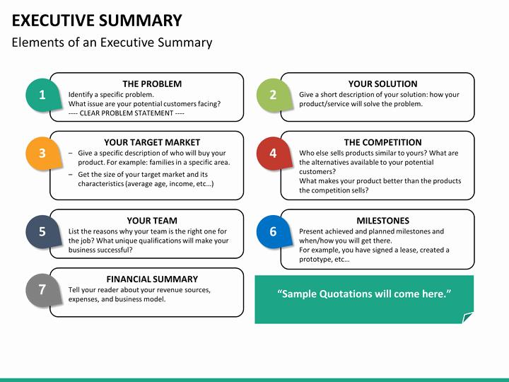 Executive Summary Ppt Template Fresh Executive Summary Powerpoint Template