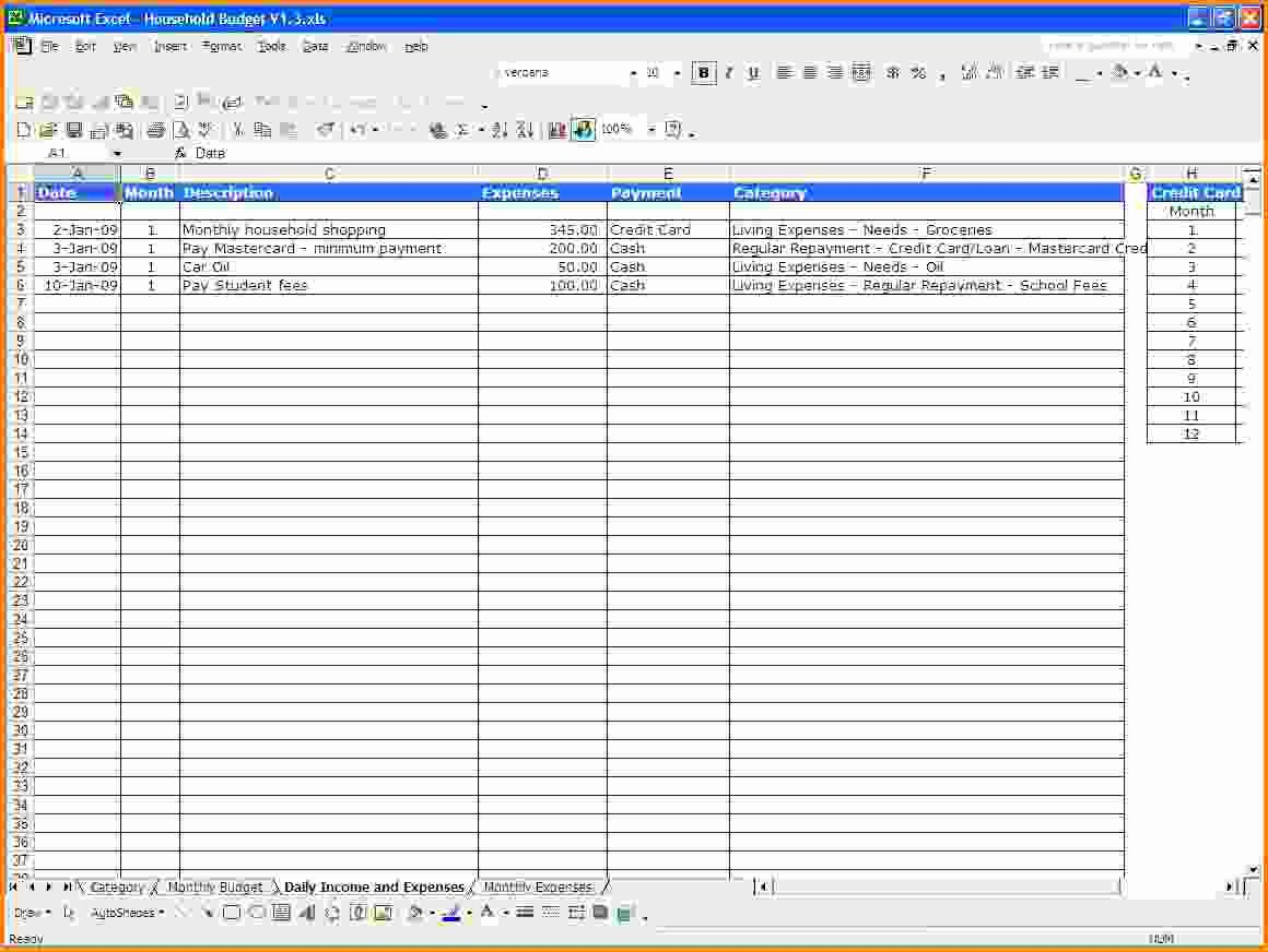 Expense and Income Spreadsheet Fresh Excel Spreadsheet Template for Expenses Expense