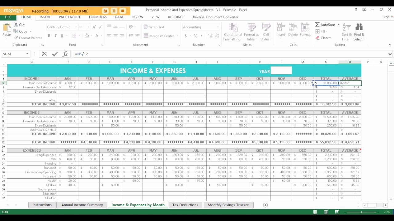 Expense and Income Spreadsheet Fresh Using Excel Spreadsheets to Track In E Expenses Tax