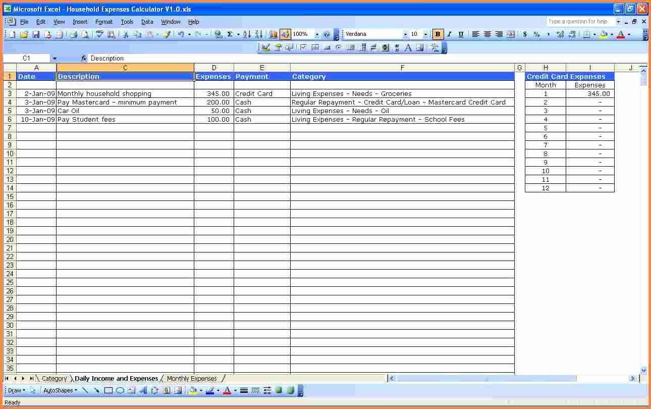 Expense and Income Spreadsheet Inspirational 10 Personal In E and Expenses Spreadsheet