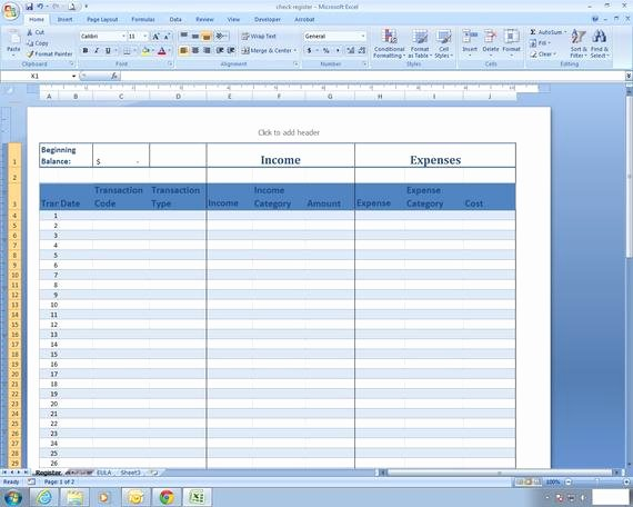 Expense and Income Spreadsheet Unique In E and Expense Register Excel Spreadsheet Template