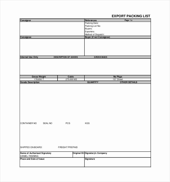 Export Packing List Template Beautiful 24 Packing List Templates Pdf Doc Excel