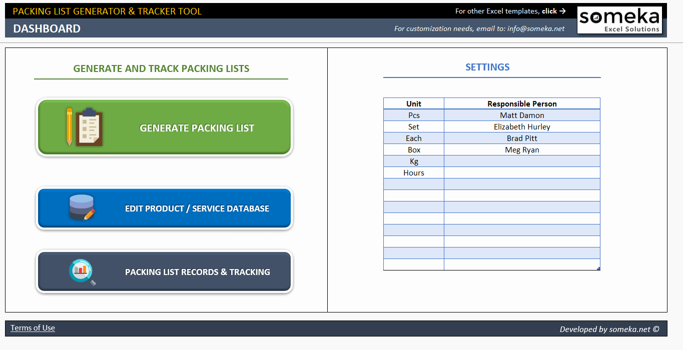Export Packing List Template New Packing List Template Excel Packing Slip Generator