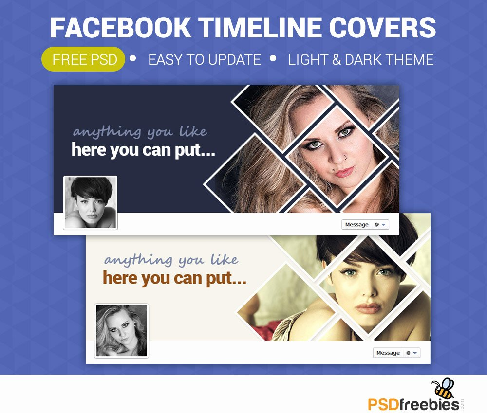 Facebook Timeline Covers Templates Beautiful Personal Timeline Covers Free Psd Download Psd