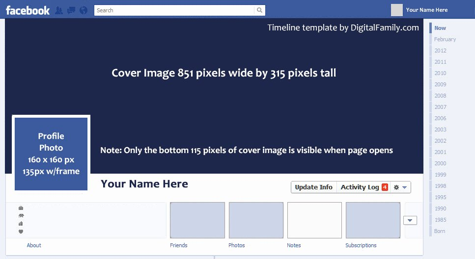 Facebook Timeline Covers Templates Luxury Timeline Template