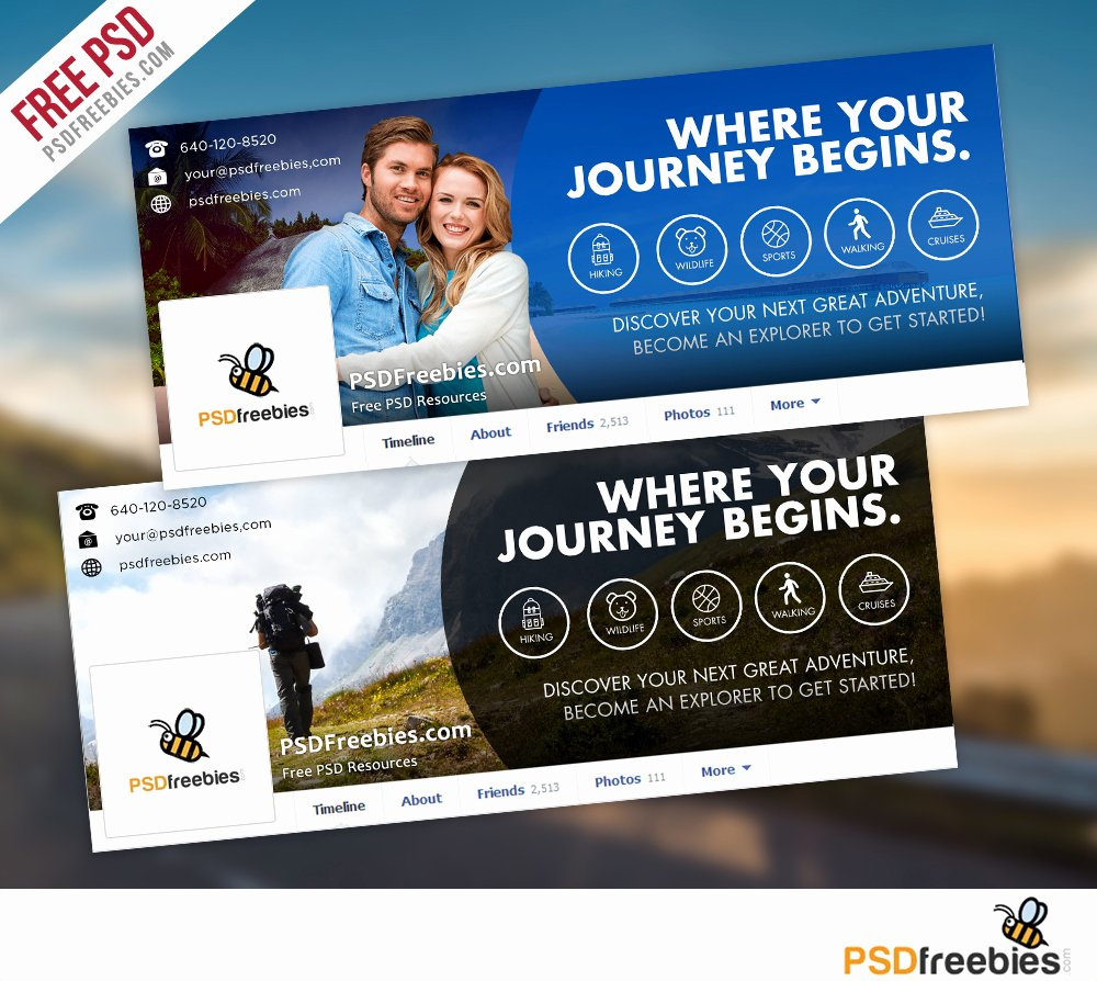 Facebook Timeline Covers Templates New Travel Timeline Covers Free Psd Templates