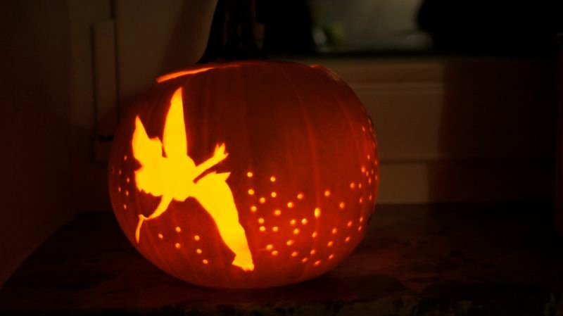 Fairy Pumpkin Carving Patterns Lovely Sprinkle some Fairy Dust On Your Pumpkin with This Diy