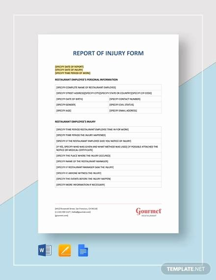 Fake Accident Report Template Beautiful 13 Sample Accident Incident Reports Docs Pdf Pages