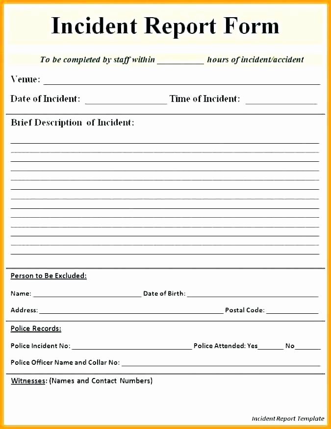 Fake Accident Report Template Elegant Fire Department Incident Report Template – Afflicktedfo