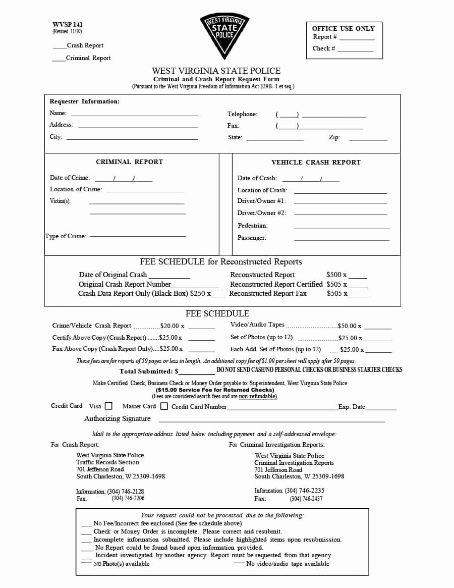 Fake Accident Report Template Luxury Fake Police Report Car Accident