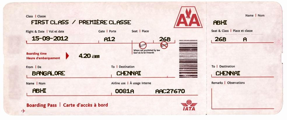 Fake Airline Ticket Gift Awesome Create Fake Airline Tickets