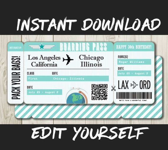 Fake Airline Ticket Gift Beautiful Fake Airline Ticket Maker