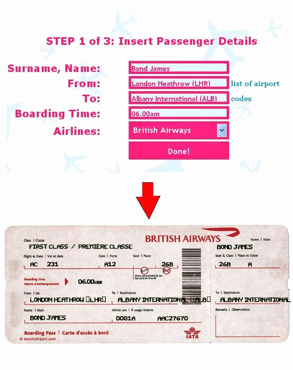 Fake Airline Ticket Gift Inspirational Ticket O Matic is the Best Fake Flight Ticket Generator