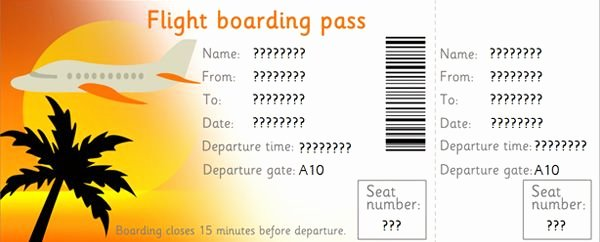 Fake Airline Ticket Gift Lovely Downloadable Editable Airline Tickets