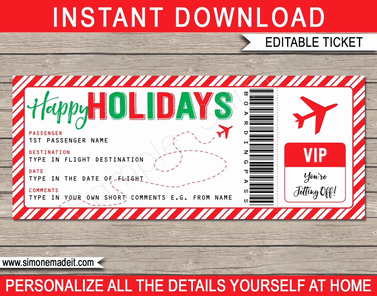 Fake Airline Ticket Gift Lovely Holiday Boarding Pass Ticket Template