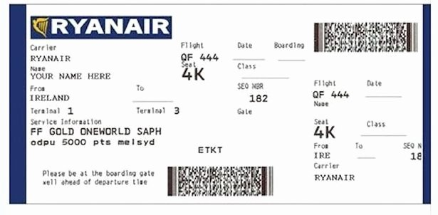 Fake Airline Ticket Gift Luxury Ryanair Warns Users Over 35th Anniversary Scam