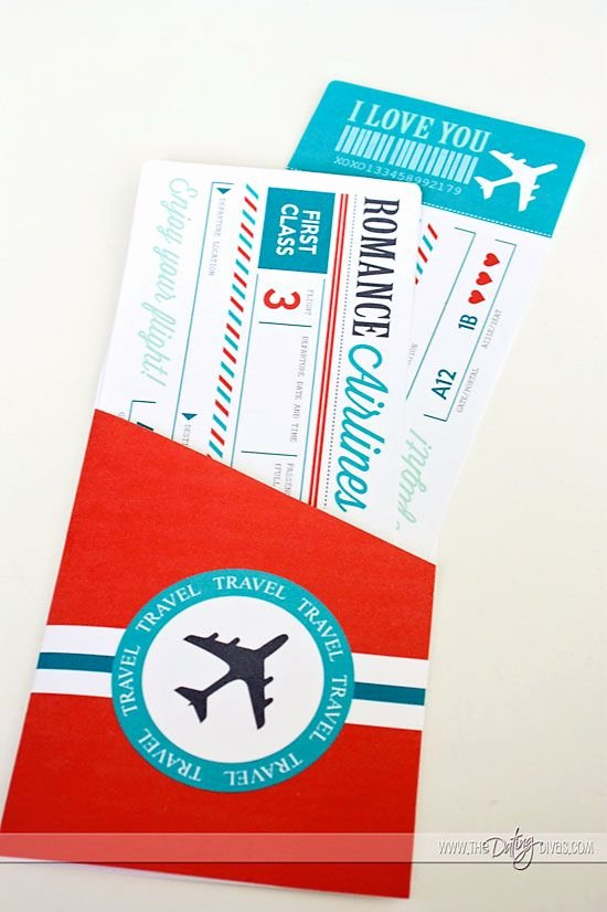 Fake Airline Ticket Gift Unique Passport to Love Travel the World From Home