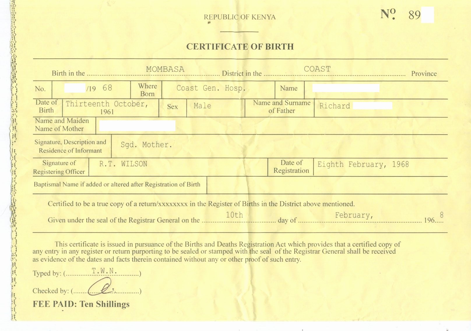 Fake Birth Certificate Template Lovely Dr Conspiracy's First Fake Kenyan Birth Certificate