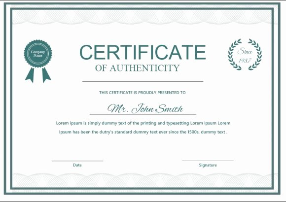 Fake Certificate Of Authenticity Beautiful 37 Certificate Of Authenticity Templates Art Car