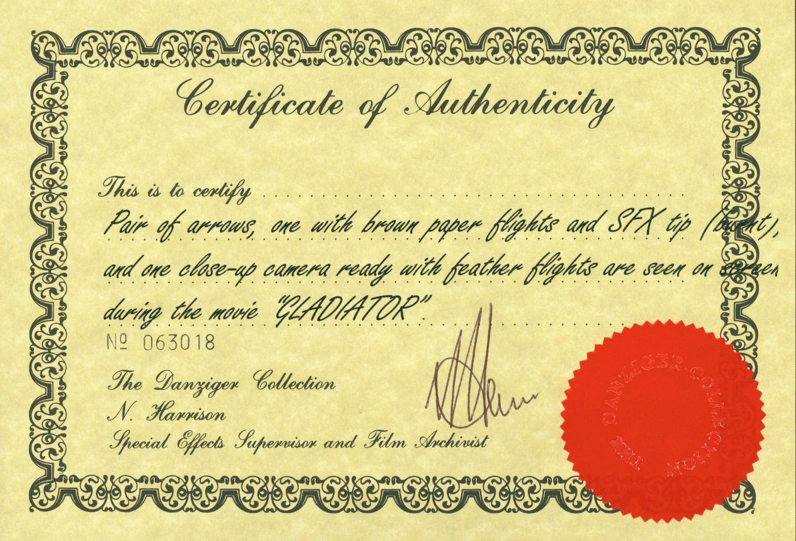Fake Certificate Of Authenticity Beautiful Elstree Props Fertility Idols Light Gods Danziger
