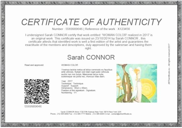 Fake Certificate Of Authenticity Lovely 37 Certificate Of Authenticity Templates Art Car