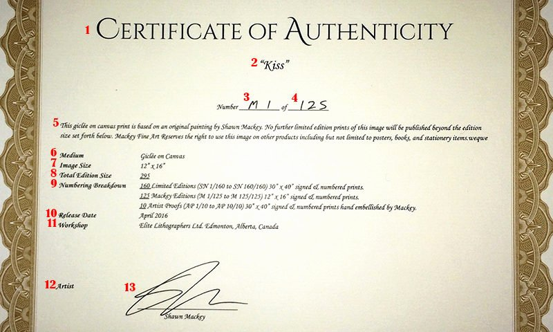 Fake Certificate Of Authenticity Luxury What is A Certificate Authenticity How to Create Art
