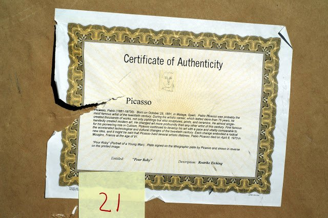Fake Certificate Of Authenticity New Lapd Art Cop and His Example Of A Fake Certificate Of