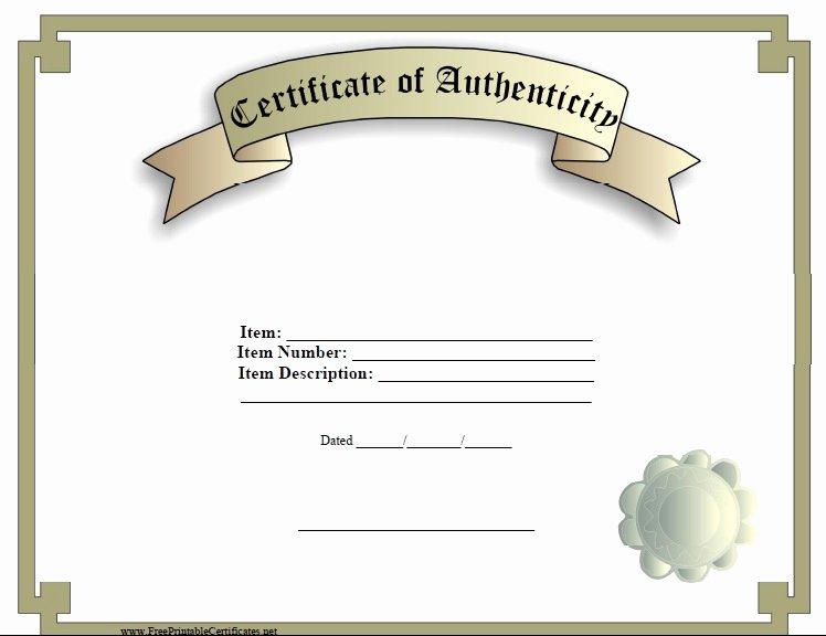 Fake Certificate Of Authenticity Unique 7 Free Sample Authenticity Certificate Templates