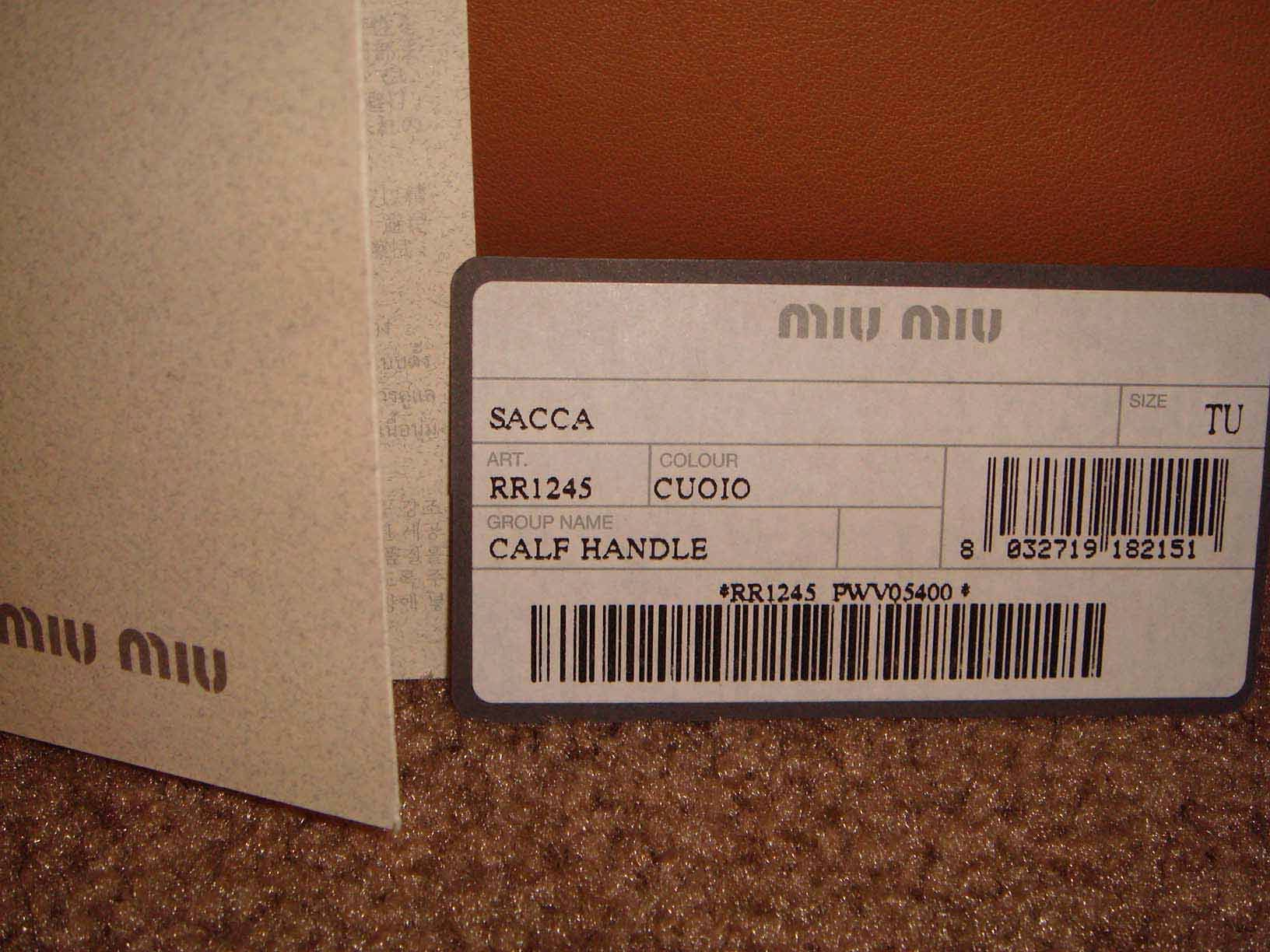 Fake Certificate Of Authenticity Unique Miu Miu Tips to Ensure Authenticity 2nd Take