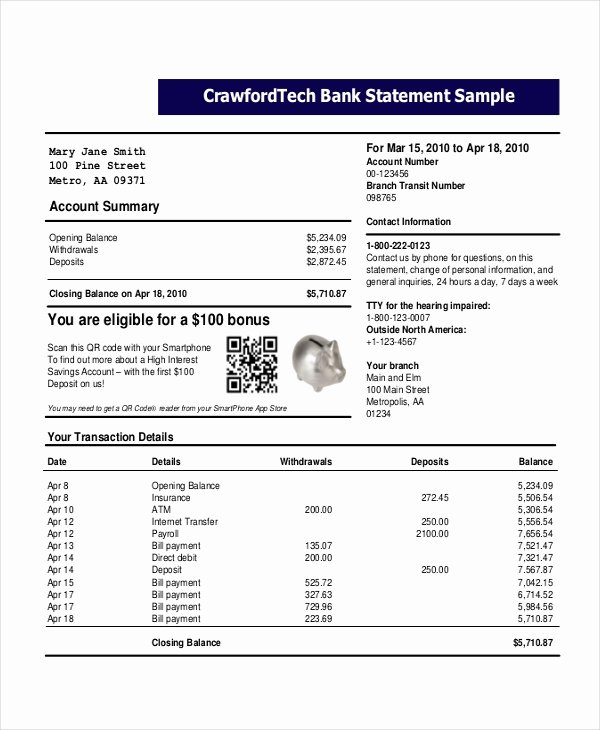 Fake Chase Bank Statement Generator Beautiful Free Bank Statement Template Free Download Aashe