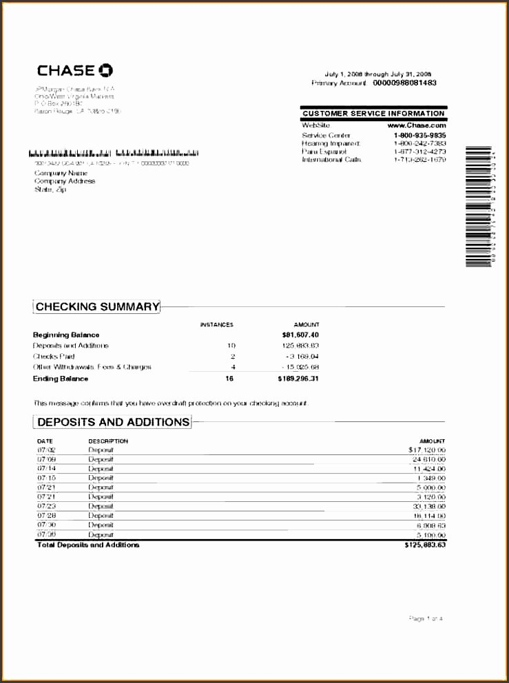 Fake Chase Bank Statement Generator Unique 7 Account Statement Template Sampletemplatess