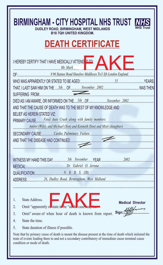 Fake Death Certificate for Work Elegant How to Get A Death Certificate