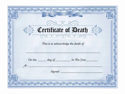 Fake Death Certificate for Work New 15 Birth Certificate Templates Word & Pdf Template Lab