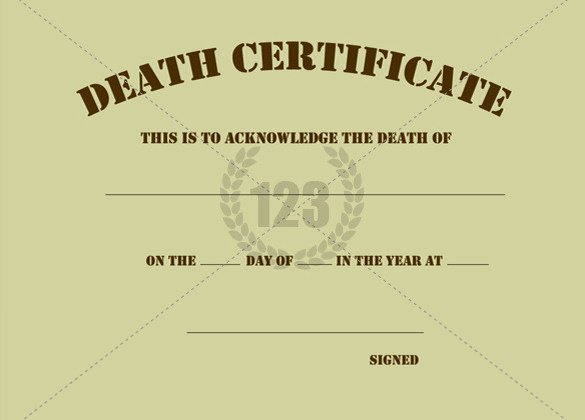 Fake Death Certificate Template Best Of Blank Death Certificate Template Sample Govinfo