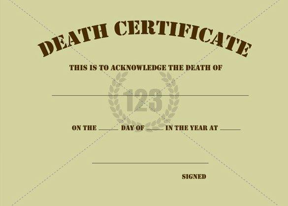 Fake Death Certificate Template Best Of Blank Death Certificate Template Sample Govinfo