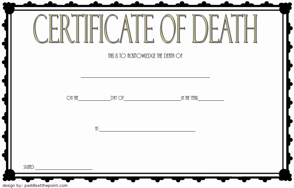 Fake Death Certificate Template Fresh Death Certificate Template Free Download [7 New Designs]