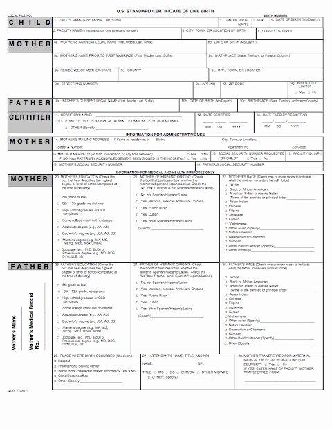 Fake Death Certificate Template Unique 15 Birth Certificate Templates Word & Pdf Template Lab