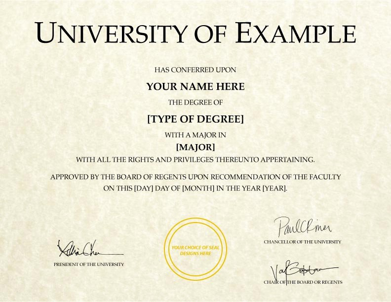 Fake Degree Certificate Template Awesome Fake College Diplomas & Certificates