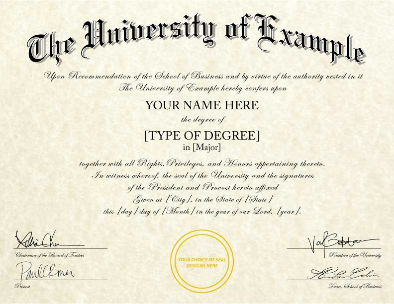 Fake Degree Certificate Template Best Of Fake College Diplomas & Certificates