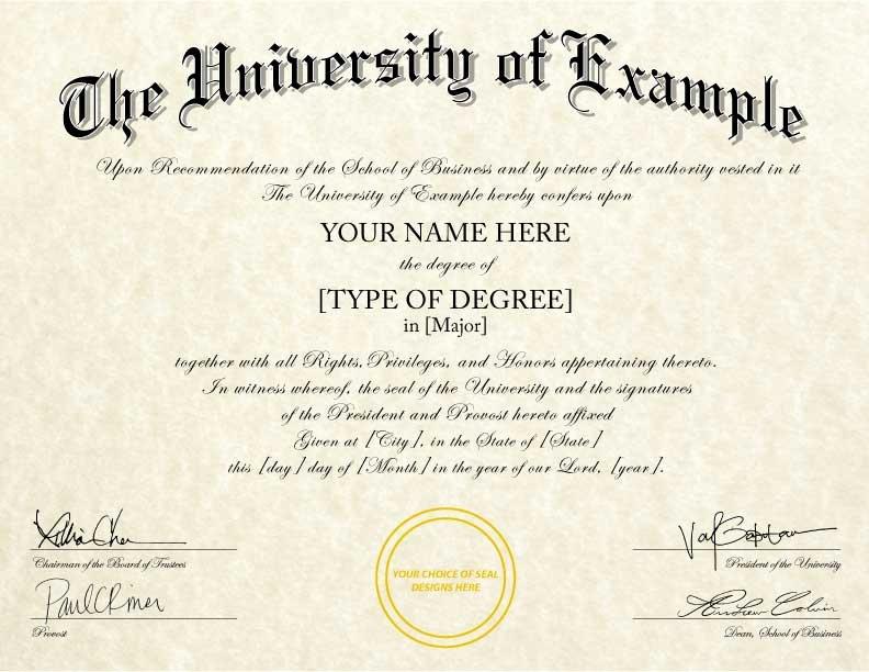 Fake Degree Certificate Template Best Of Fake College Diplomas & Certificates