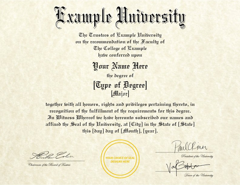 Fake Degree Certificate Template Inspirational Fake Diplomas & Certificates