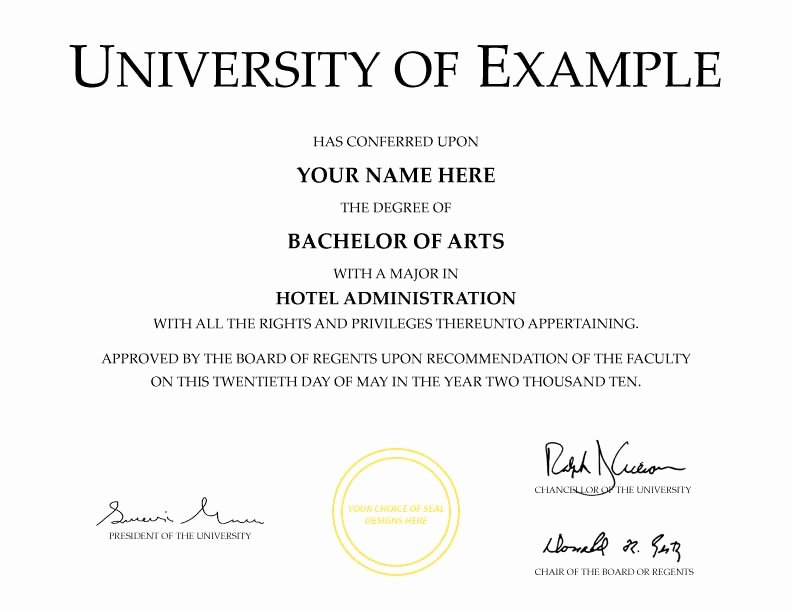 Fake Degree Certificate Template Inspirational Fake Diplomas