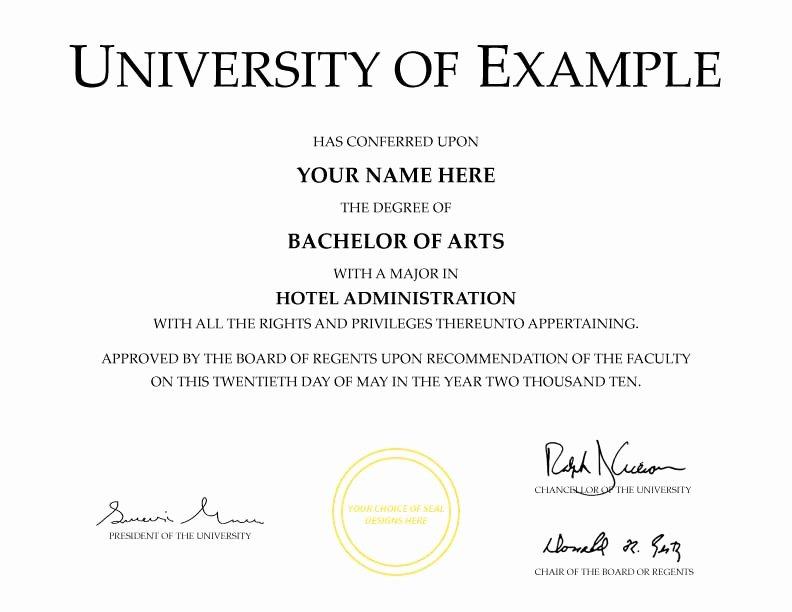 Fake Degree Certificate Template Inspirational Fake Diplomas