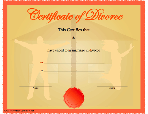 Fake Divorce Certificate Template Unique Fake Divorce Papers
