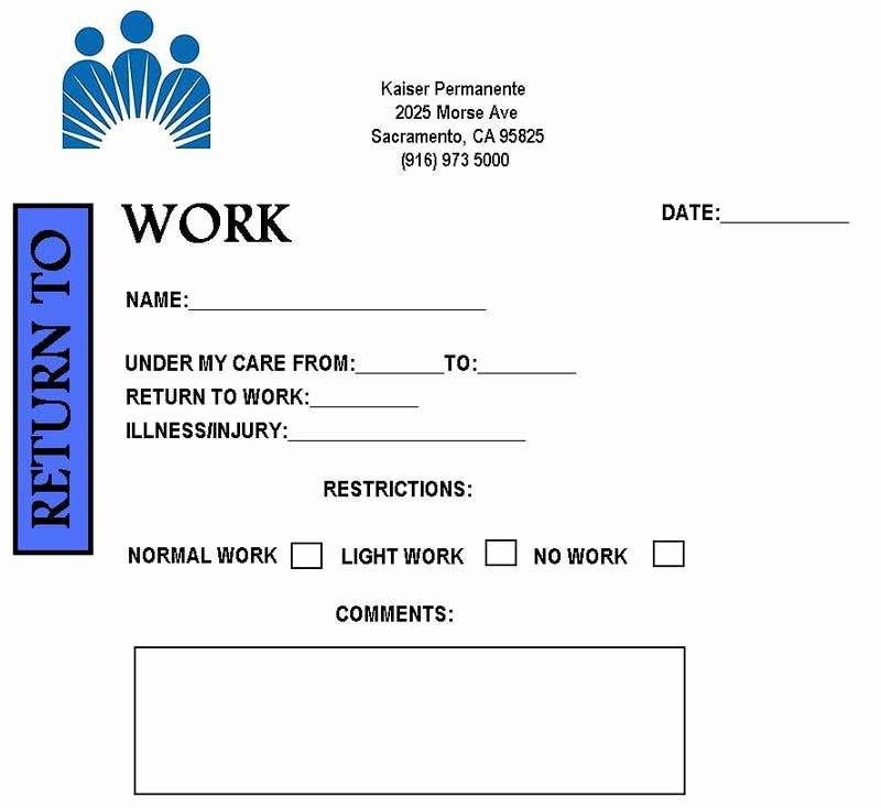 Fake Doctor Note Template Awesome Free Printable Doctors Note for Work