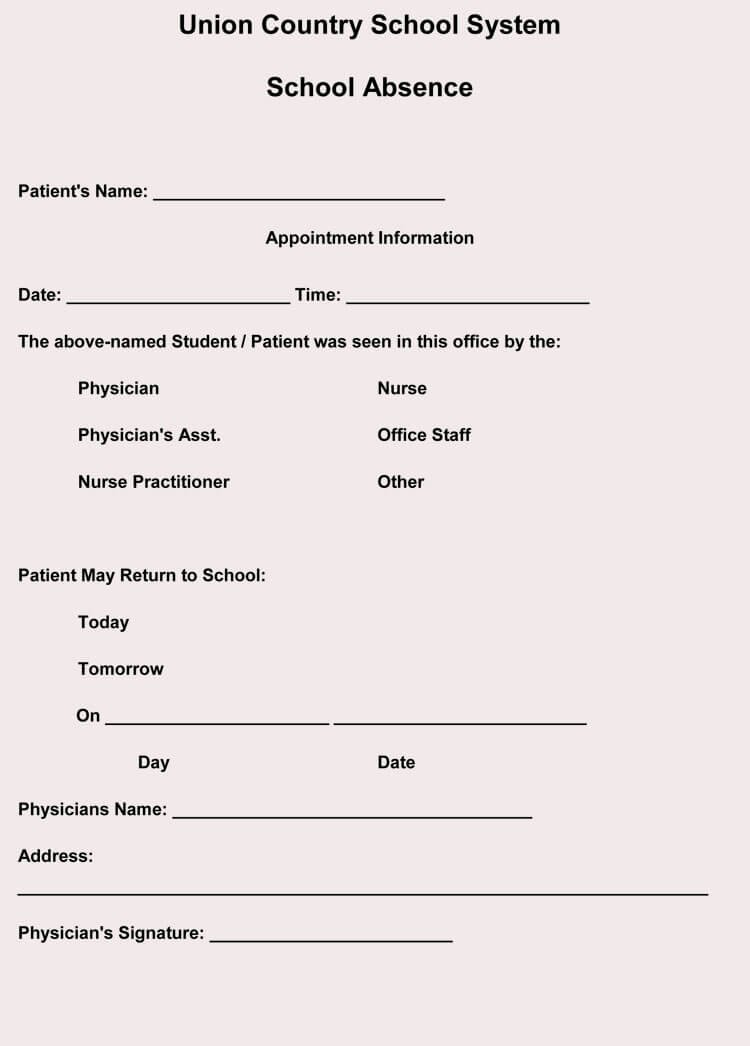 Fake Doctor Note Template Inspirational Creating Fake Doctor S Note Excuse Slip 12 Templates