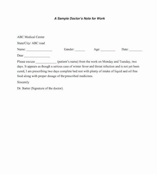 Fake Doctors Note Elegant Fake Doctors Note Template – 27 Free Word Pot Pdf